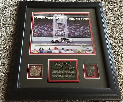 Dale Earnhardt Nascar Indy 500 Piece Of Track Framed Non Auto #ed 768/5003 Rare
