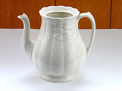 Wm Adams and Sons Real Ironstone China Coffee Pot Ceres Cream Pattern c1950