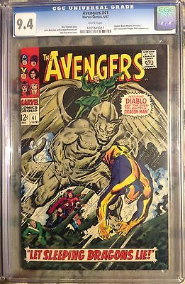CGC 9.4 Avengers Comic Book 41 Black Widow Diablo Best Price For White Paged 9.4