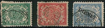 Lot 3793 - Netherlands Indies - 1902/1911 Numeric selection of 3 used stamps