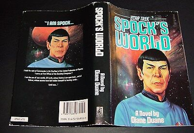 Spock's World Star Trek Book by Diane Duane MINT book, Dust Jacket VG+ 1st Print