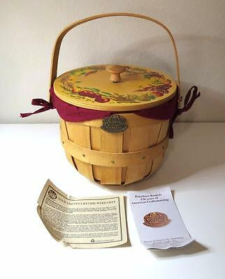 Peterboro Basket Co 150th Anniversary Basket Musical Lid Everything is Beautiful