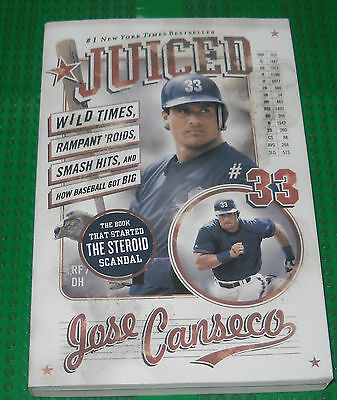 Athletics Jose Canseco Autographed Signed Juiced 1St Edition Book Coa Jsa Psa