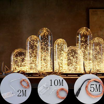 20/50/100 LED String Copper Wire Fairy Lights Battery Powered Waterproof Fg