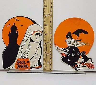 Halloween cut out die cut Peck child ghost cute witch Lot 2 small