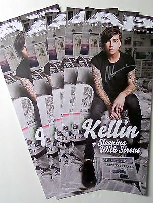 "Kellin Quinn of Sleeping With Sirens REAL hand SIGNED 8.5x20"" locker poster COA"