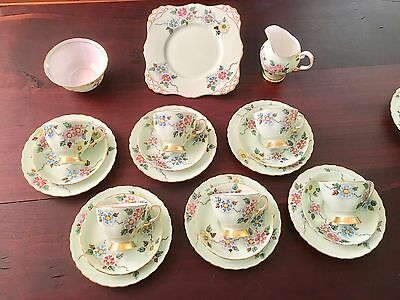 Vintage Tuscan 21 piece tea and cake set
