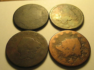 20 No Date Large Cents From 1800's To 1850's Culls