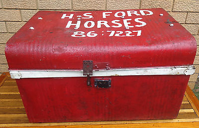 Large,  Vintage Metal Sea Trunk, Ideal For Storage, Collectible