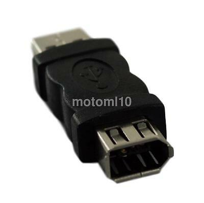 Firewire IEEE 1394 6Pin to USB 2.0 Male Adaptor Convertor For Printer Scanner US