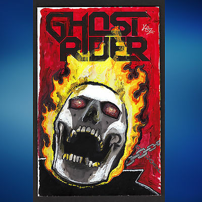 Ghost Rider #1 NM Blank Variant Featuring Original Painted Sketch Cover Art
