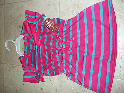 12-18 Months Cute Pink And Blue Dress New With Tags Arizona Jeans