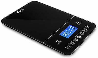 Ozeri ZK19 Touch III 10 kg Digital Kitchen Food Scale Calorie Counter New Black