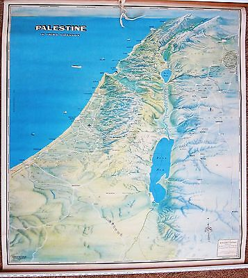Palestine in Third Dimension Map 1967 by G. Frederick Owen with UN partitioning