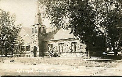 Mn Pipestone / Episcopal Church / Real Photo / Dated 1926