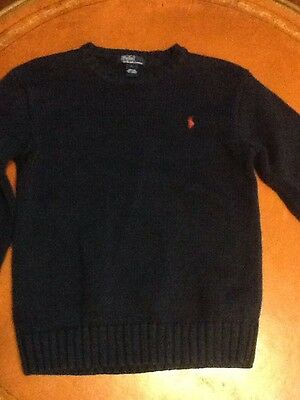 Polo By Ralph Lauren Boys Crew neck Sweater Size L Navy