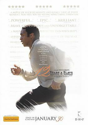 Promotional Movie Sheet - 12 YEARS A SLAVE (2013) (Steve McQueen, Brad Pitt)