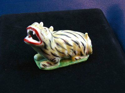 Antique Asian Chinese Porcelain Tiger Figurine