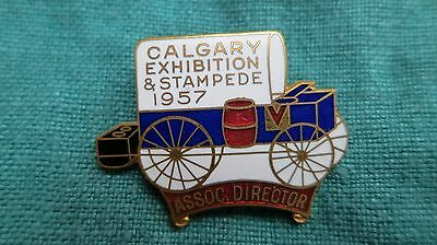 Vintage Old CALGARY STAMPEDE Rodeo Director Lapel Pin 1957