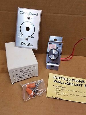 Solid State KBWC-15K Motor Speed Control 5.0 Amp 120v Free Shpping