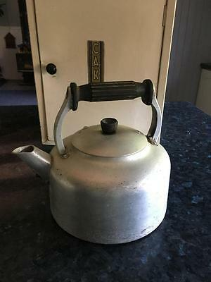 Vintage Heavy Tea Kettle -  Handle - Great For Camping - Great Price