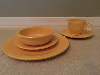 Fiestaware Vintage Yellow 5 Piece Place Setting