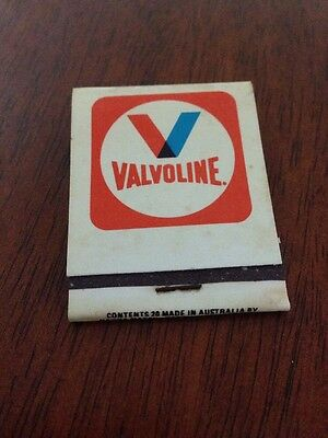 VALVOLINE PETROL OIL BOOK of MATCHES in UNUSED CONDITION approx c1970