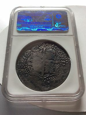 NGC Authenticed Silver Maravillas Shipwreck Coin w/Excellent Countermark