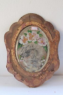 Antique Old Wooden Royal Islamic Family Urdu Islamic Written Wall Mirror NH2714