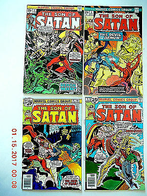 Marvel Comics The Son Of Satan (1975) #2-8 Comic Book Set!
