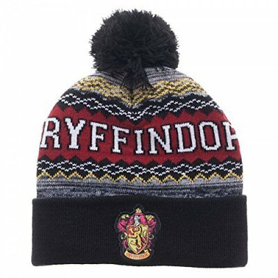 Harry Potter : KNITTED GRYFFINDOR BEANIE WITH CREST from BioWorld