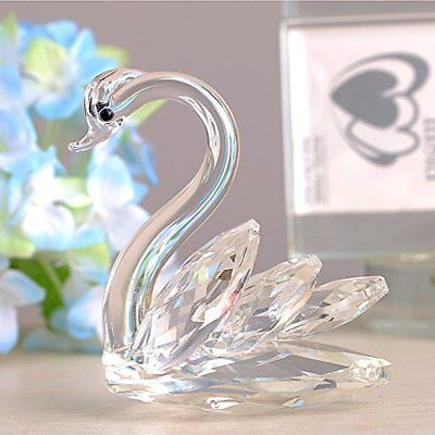 Paperweight Table Centerpiece Ornament Sparkle Crystal Swan Figurine Collectable