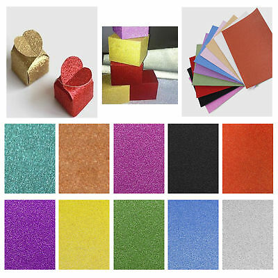 A4 Glitter Card 10 Sheets Same Colour  Soft Touch DIY Craft Invitations Party