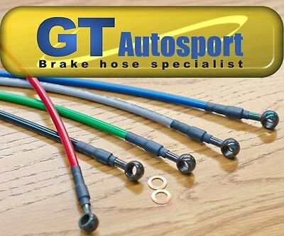 Custom motorcycle stainless brake hoses kit 1 line - 7 colors