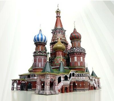 Cardboard model kit. St.Basil Cathedral in Moscow.  1/150 scale.