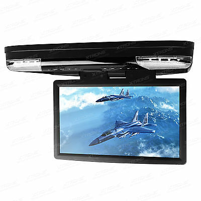"""XTRONS 15.6"""" HD Monitor Car Roof DVD Player HDMI Games Freeview TV Headphones"""