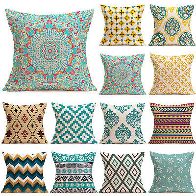 CHEAP! 18'' Home Decor Cotton Linen Throw Pillow Case Sofa Waist Cushion Cover