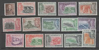 Dominica, 1950 Set Of 15 Mh