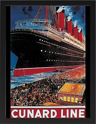 CUNARD LINE MONARCHS OF THE SEA VINTAGE REPRO A1 CANVAS GICLEE ART PRINT POSTER