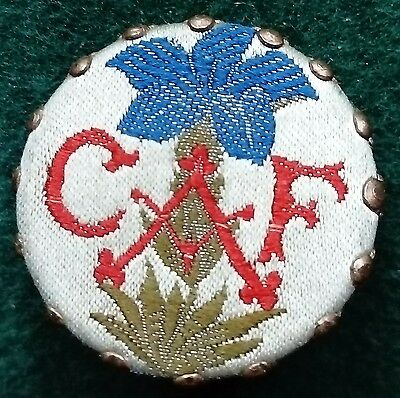 CAF Club Alpin Francais insigne French Alpine Club badge - fabric design