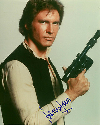 STAR WARS--HAN SOLO- HARRISON FORD- Autographed 8x10 RP