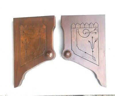 Pair of Interior Antique Corbels Brackets Architectural Accent Pieces
