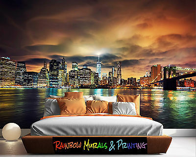 PRINTED IN AUSTRALIA Wall MURAL WALLPAPER YOUR PIC or ours REMOVABLE NEW YORK