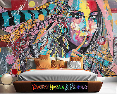 PRINTED AUSTRALIA Wall MURAL WALLPAPER YOUR PIC or ours REMOVABLE DREAM CATCHER
