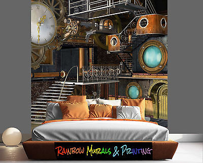 PRINTED IN AUSTRALIA Wall MURAL WALLPAPER YOUR PIC or ours REMOVABLE STEAMPUNK 2