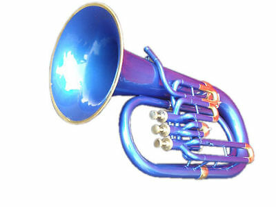 """Euphonium Bb""""blue_Color_Bb""""pitch W-Case&mp Brass Made Tuba Great Sound Indians"""