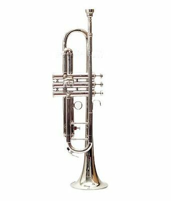"""BUY-DEAL STUDENT:TRUMPET Bb NEW""""CHROME PLATED WITH CASE,MP&MUTE LOW PRICE"""