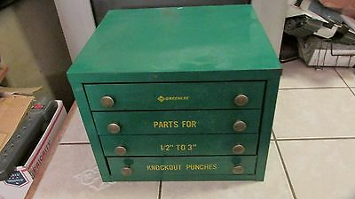 """Greenlee Knockout Punches Parts Tool Box -  10"""" x 11"""" x 12.50"""""""