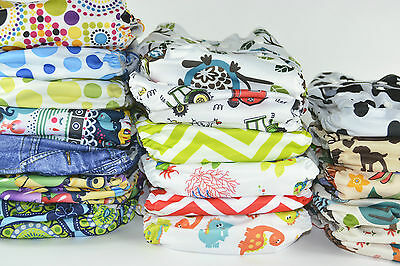 15 PACK - BaeBaby Reusable Modern Cloth Nappies, Diaper (MCNs) with FREE insert