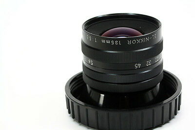 "*NIKON EL NIKKOR 135MM F/5.6 Enlarging Lens. EX. coverage  4 x 5"" negatives"